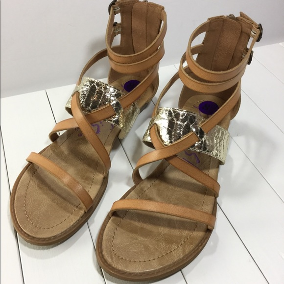 fed2014d0fa5 Blowfish Shoes - Blowfish Gladiator Sandals Brown   Gold Size 8 ...
